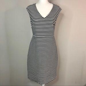 Ann Taylor Navy & white stripe dress size 8